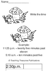 Write the Time Worksheet