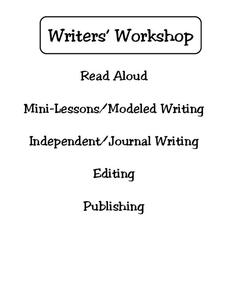 Writer's Workshop Worksheet