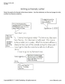 Writing a Friendly Letter Handouts & Reference