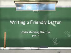 Writing a Friendly Letter Presentation