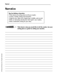 Writing a Narrative Worksheet