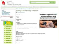 Writing a Short Story - Weather Lesson Plan