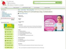 Writing About a Christmas Day Celebration Lesson Plan