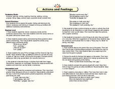 Actions and Feelings Lesson Plan