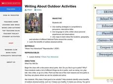 Writing About Outdoor Activities Lesson Plan