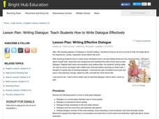 Writing Effective Dialogue Lesson Plan