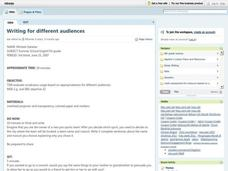 Writing For Different Audiences Lesson Plan
