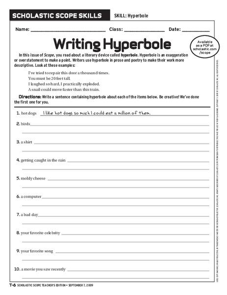 worksheet. Hyperbole Worksheet. Grass Fedjp Worksheet Study Site