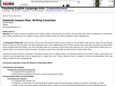 Writing Limericks Lesson Plan