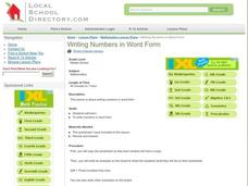 Writing Numbers in Word Form Lesson Plan