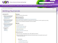 Writing Numerals Lesson Plan