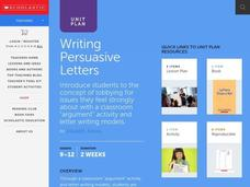 Writing Persuasive Letters Unit