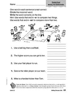 Writing Process: Edit Worksheet