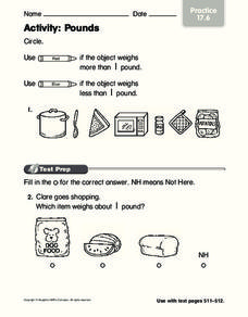 Activity: Pounds Worksheet