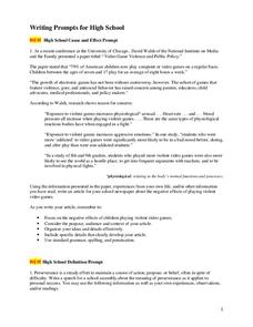 High school application essay assignments