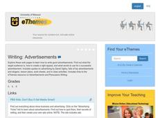 Writing: Advertisements Lesson Plan