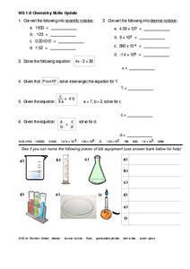WS 1.0 Math Skills Update Worksheet