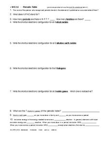 WS 2.6-Periodic Table Worksheet