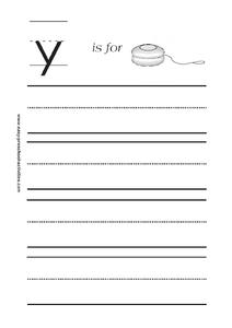 Y is for Yo-Yo Worksheet