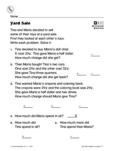 Yard Sale Worksheet