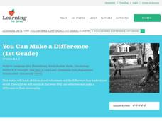 You Can Make a Difference Lesson Plan