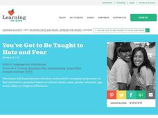 You've Got to be Taught to Hate and Fear Lesson Plan