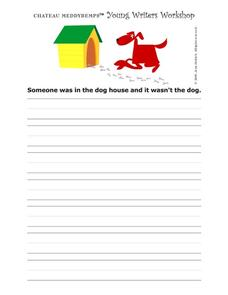 Young Writers Workshop Worksheet