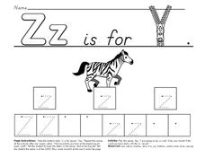 Z is for Zipper Worksheet
