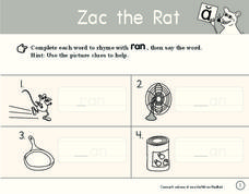 Zac the Rat Worksheet