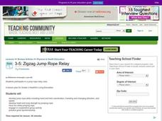 Zigzag Jump Rope Relay Lesson Plan