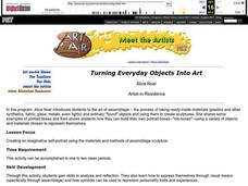 Turning Everyday Objects Into Art Lesson Plan