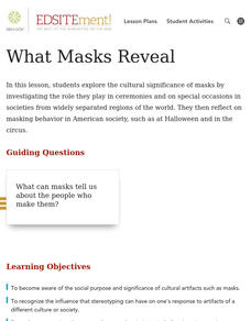 What Masks Reveal Lesson Plan