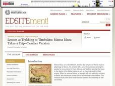 Trekking to Timbuktu: Mansa Musa Takes a Trip - Teacher Version Lesson Plan