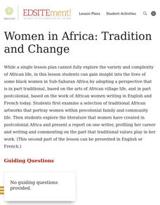 Women in Africa: Tradition and Change Lesson Plan