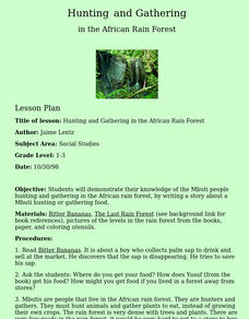 Hunting and Gathering in the African Rain Forest Lesson Plan