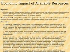 Economic Impact of Available Resources Lesson Plan