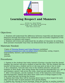Learning Respect and Manners Lesson Plan