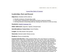 Leadership - Past and Present Lesson Plan