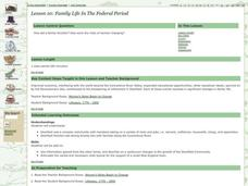 Family Life in the Federal Period Lesson Plan