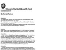 """Where In The World Does My Food Come From?"" Lesson Plan"