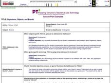 Organisms, Objects, and Events Lesson Plan