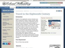Travel in the Eighteenth Century Lesson Plan