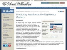 Predicting Weather in the Eighteenth Century Lesson Plan