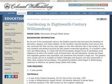 Gardening in Eighteenth-Century Williamsburg Lesson Plan