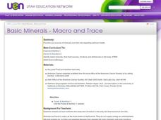 Basic Minerals - Macro and Trace Lesson Plan