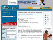 Intro to and Discovery of the New England States: Geography, Social Studies Lesson Plan