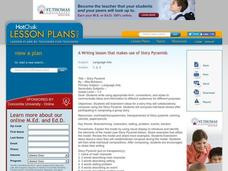 Story Pyramid : Writing, Creative Writing, Pre-writing Lesson Plan