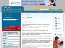 Compound Personal Pronouns Lesson Plans & Worksheets