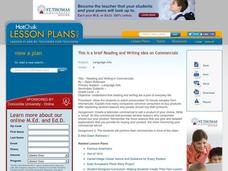 Reading and Writing in Commercials Lesson Plan