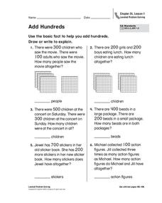 Add Hundreds Worksheet